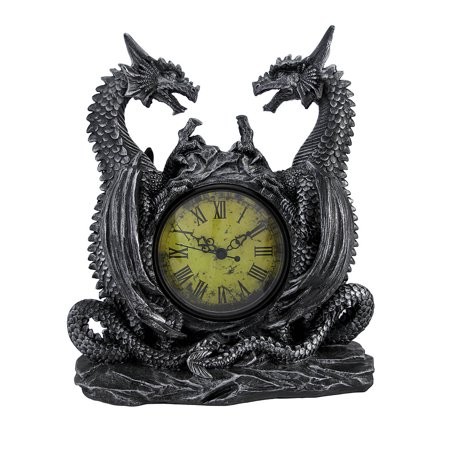 Dragon Clock (Dragon Clock - Medieval-Style Handpainted Resin Timepiece Figure 11