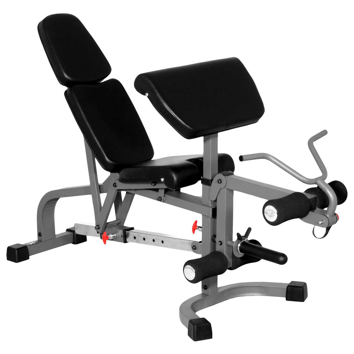 XMark FID Flat Incline Decline Weight Bench with Leg Extension and Preacher Curl XM-4419