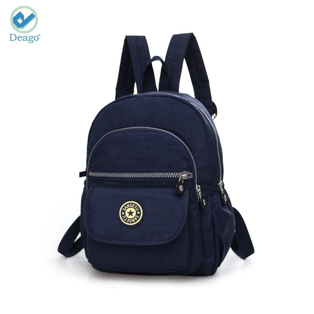 Deago - Deago Fashion Casual Shoulder Bag Women Girls Ladies Backpack Travel bag Rucksack Mini Bag (Black) - Walmart.com