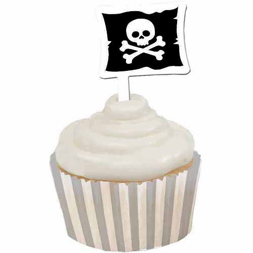 Creative Converting Pirate Parrty Cupcake Wrappers with Picks