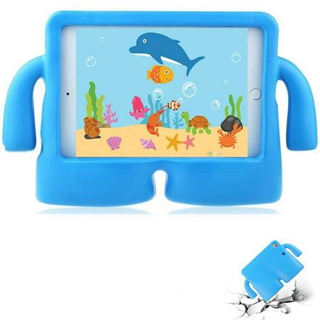 iPad Mini 4 case iPad Mini 3 case by Insten TPU Gel Dual Layer [Shock Absorbing] Hybrid Shock Resistant Case Phone Cover For Apple iPad Mini 1/2/3/4 Blue Rubber Bling Skin