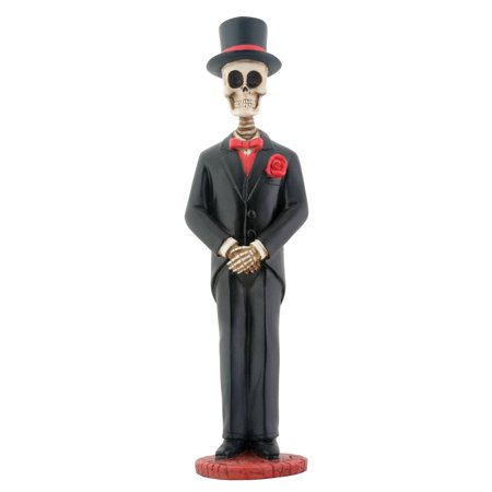 Large Skeleton Groom with Top Hat and Red Rose, Perfect gift for those that love Skeleton By YTC
