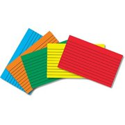Top Notch Teacher Products TOP3662 Border Index Cards 3 X 5 Lined Primary Colors 75Ct