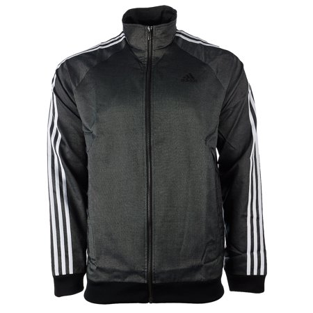 Adidas Essentials 3-Stripe Woven Track Top - Black/White - Mens - S