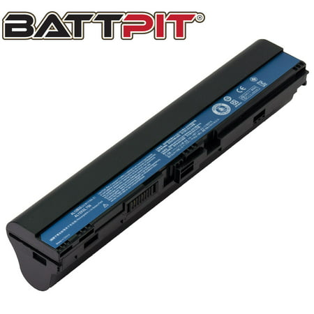 BattPit: Laptop Battery Replacement for Acer Aspire One 725-0802, AK.004BT.098, AL12B31, AL12B72, KT.00407.002 (11.1V 4400mAh 49Wh) - image 1 de 1