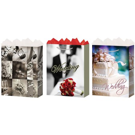 Bulk Buys Large Wedding Gift Bags - Gloss - Case of 24
