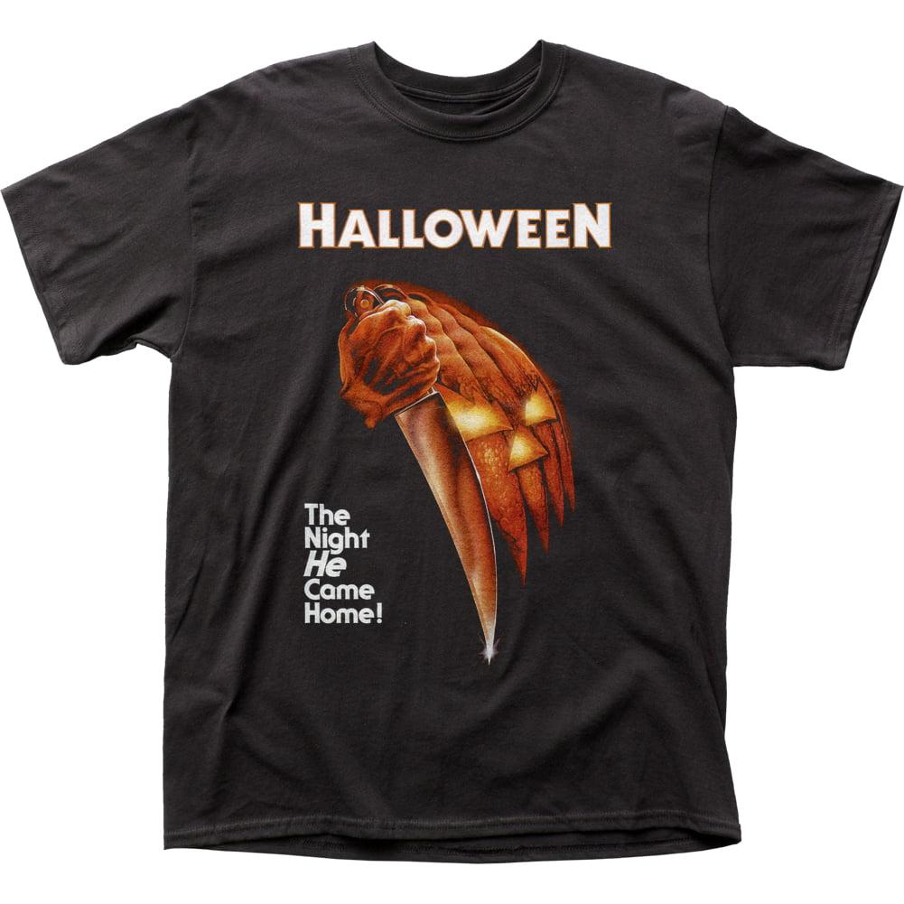 Halloween Horror Slasher Movie Night He Came Home Adult T-Shirt Tee