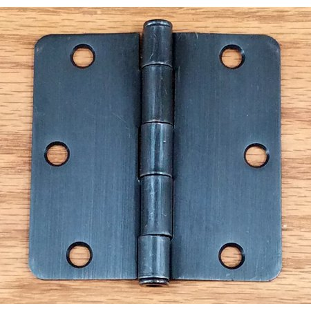 Zinc Plated Butt Hinges (Oil Rubbed Bronze - Residential Door Hinges - Interior Butt - 3.5