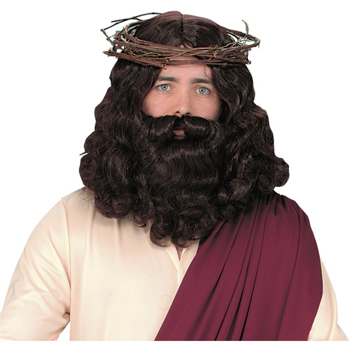 Halloween Adult Jesus with Wig and Beard Set