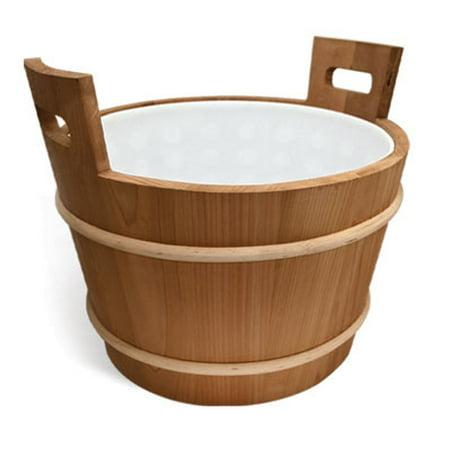 Large 4.7 gallon Cedar Sauna bucket with plastic liner - Large Buckets