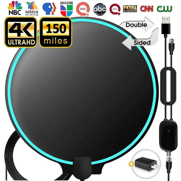 [2020] Amplified HD Digital TV Antenna 100-120 Miles Long-Range Reception Support 4K 1080p Indoor TV Digital HD Antenna Freeview Life Local Channels All Type Television Switch Amplifier Signal Booster