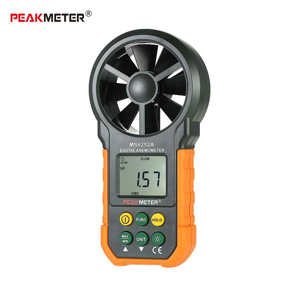 EAKMETER MS6252A Handheld LCD Backlight Digital Anemometer Multi-Unit Switching Functions... by