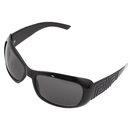 Unique Bargains Black Single Bridge Full Rim Gray Lens Sunglasses Eyeglasses for (Unique Sunglasses Brands)