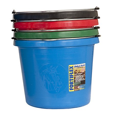 Fortiflex Flat-Back Bucket 3.5 Gal Hunter Green