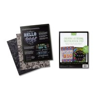 Crayola 40 Page Black Specialty Paper Signature Creative Lettering Inspiration Pad