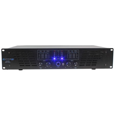 Technical Pro AX3000 3000 Watt 2 Channel 2U DJ Power Amplifier w/ 3 Band (Reference Power Amplifier)