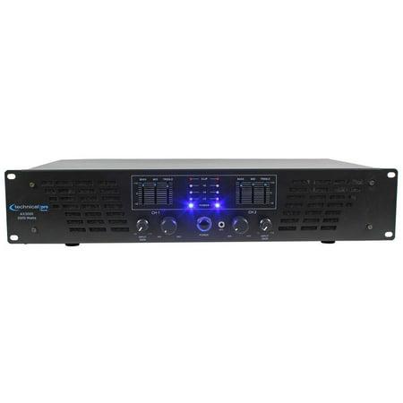 Technical Pro AX3000 3000 Watt 2 Channel 2U DJ Power Amplifier w/ 3 Band EQ ()