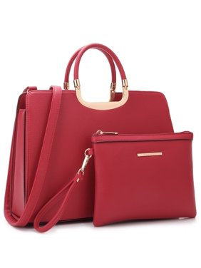 b80c5d89e60f Product Image Dasein Faux Leather Briefcase Satchel Handbag with Matching  Accessory Pouch