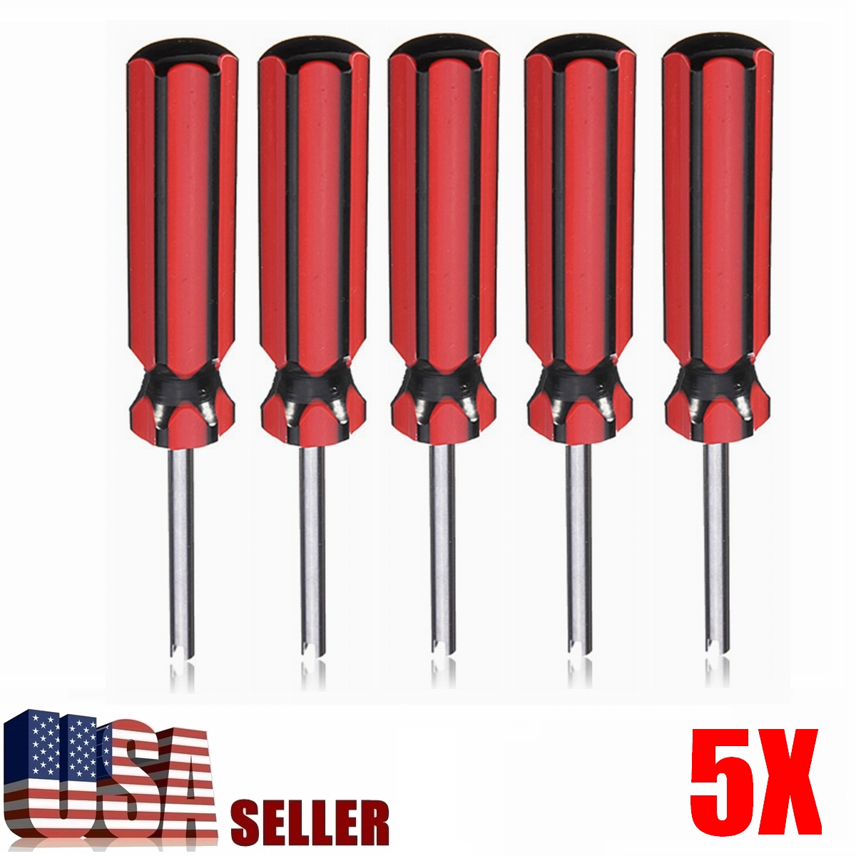 5 Pack Nonslip Handle Valve Stem Core Remover Tire Repair Install Tool for Car Truck Motorcycle Bicycle