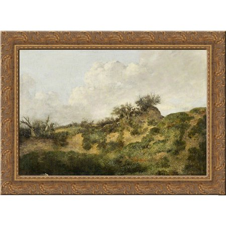 A Sandy Bank 24X18 Gold Ornate Wood Framed Canvas Art By John Crome