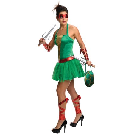 Womens Teenage Mutant Ninja Turtles Raphael Dress Costume - Ninja Turtle Womens Costume