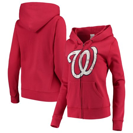 Washington Nationals 5th & Ocean by New Era Women's Core Fleece Hoodie - Red