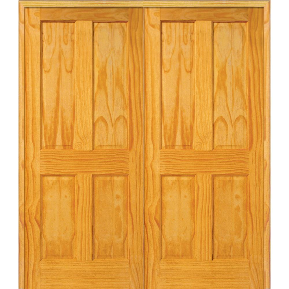 "Masonite DoorBuild 4-Panel 73.5""x81.75"" Pine Prehung Inte..."