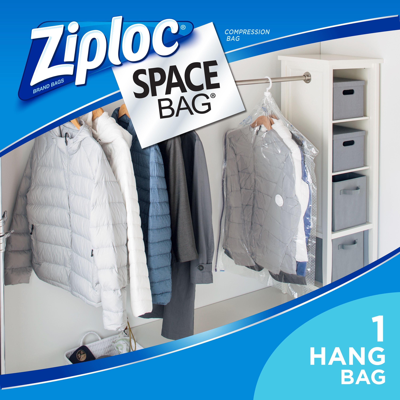Ziploc Space Bag Hanging Suit Bag 1 count