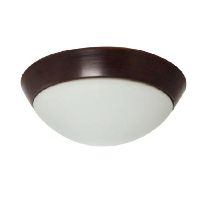 Efficient Lighting EL-801-218-BZ Traditional Family Flushmount  Oil Rubbed Bronze Finish with White Glass  Energy Star