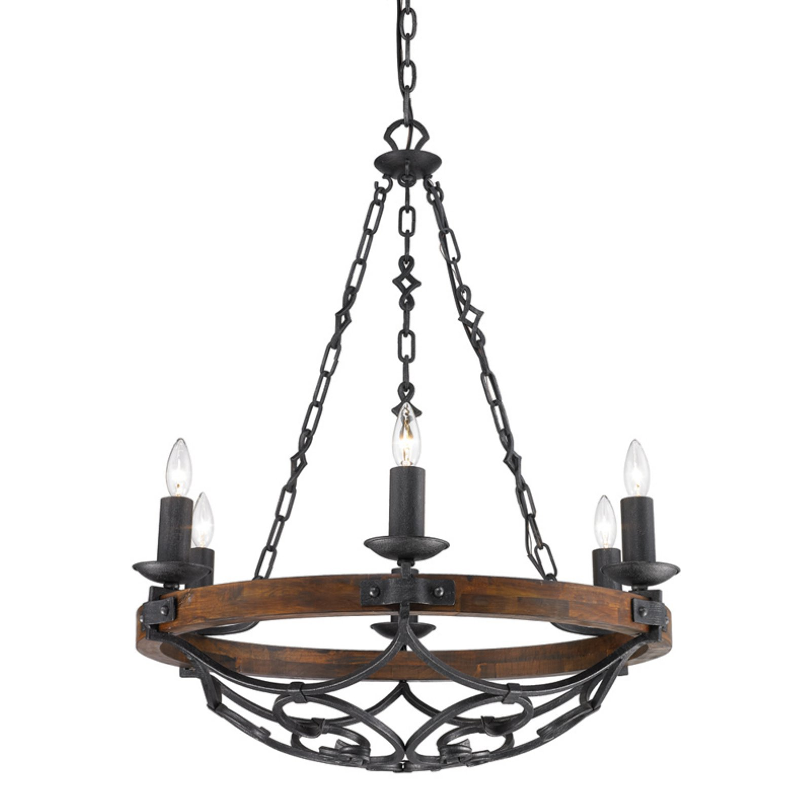 exceptional Wildon Home Chandelier Part - 9: Wildon Home Madera 6 Light Candle Chandelier - Walmart.com