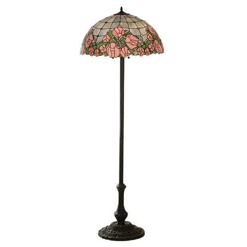 Meyda Tiffany 81721 Tiffany Three Light Up Lighting Floor Lamp from the Cabbage