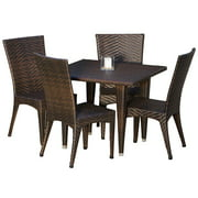 5-Pc Eco- Friendly Outdoor Dining Set in Brown