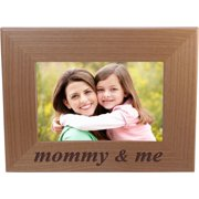 Mommy & Me - 4x6 Inch Wood Picture Frame - Great Gift for Mothers's Day, Birthday or Christmas Gift for Mom Grandma Wife Grandmother