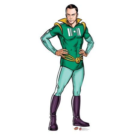 Big Bang Theory Sheldon Super Hero Standup Standee Cardboard Cutout Poster
