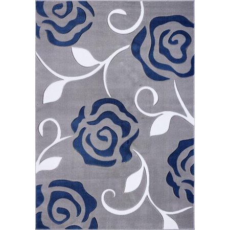 Ladole Rugs Rose Pattern Contemporary Area Rug Carpet In