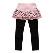 Richie House Little Girls Pink Black Bows Skirt Tights 7