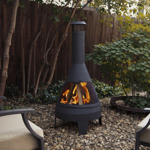 Real Flame Steel Camber Chiminea