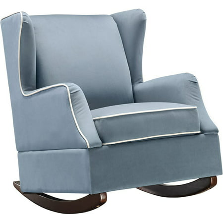 Enjoyable Baby Relax Hudson Wingback Rocker Baltic Blue Bralicious Painted Fabric Chair Ideas Braliciousco