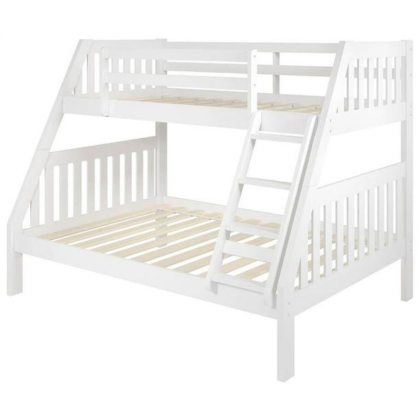 Twin Over Full Mission Bunk Bed In White Walmart Com Walmart Com