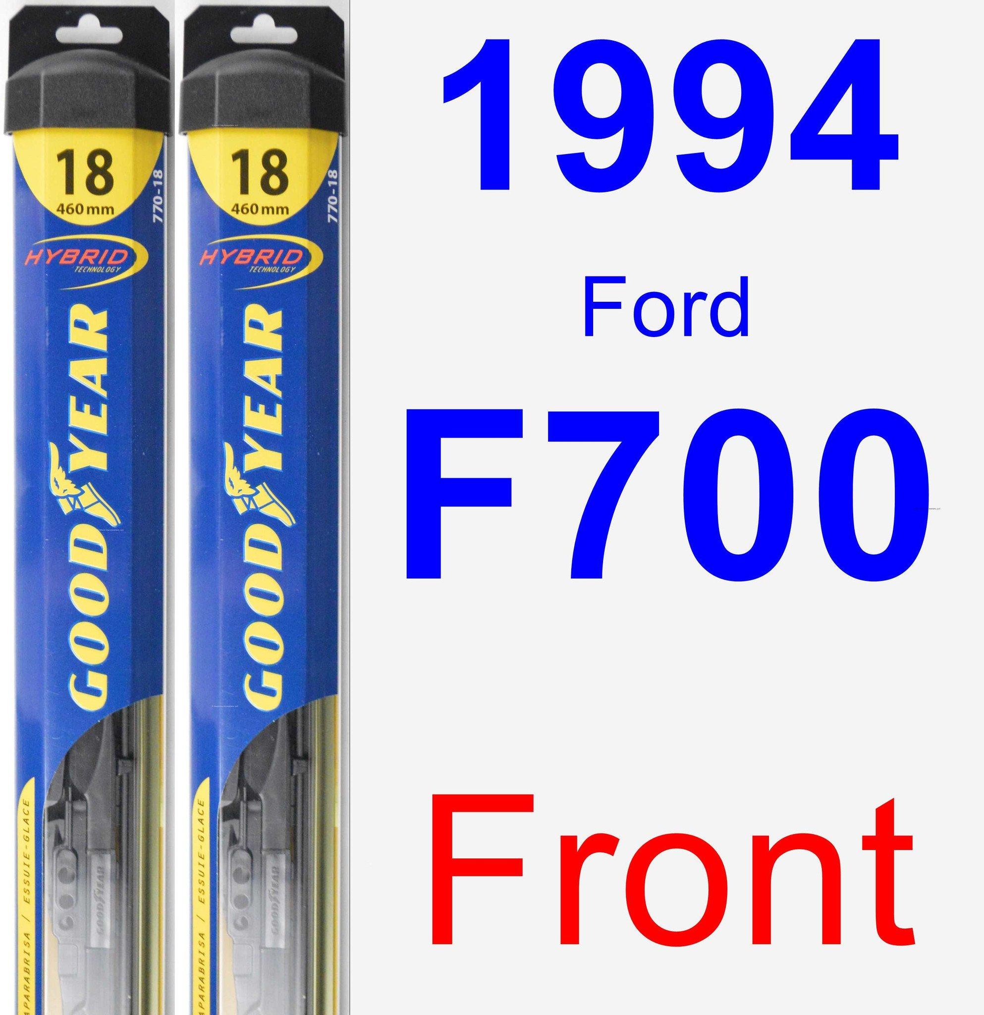 1994 Ford F700 Wiper Blade Set/Kit (Front) (2 Blades) - Hybrid
