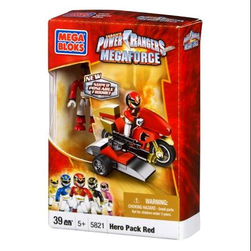 Mega Bloks Power Rangers MegaForce Hero Pack Red Set #5821