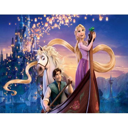 Disney Tangled Flynn Rider Max Rapunzel Birthday 1/2 Size  Sheet Cake Topper Edible Frosting  Image