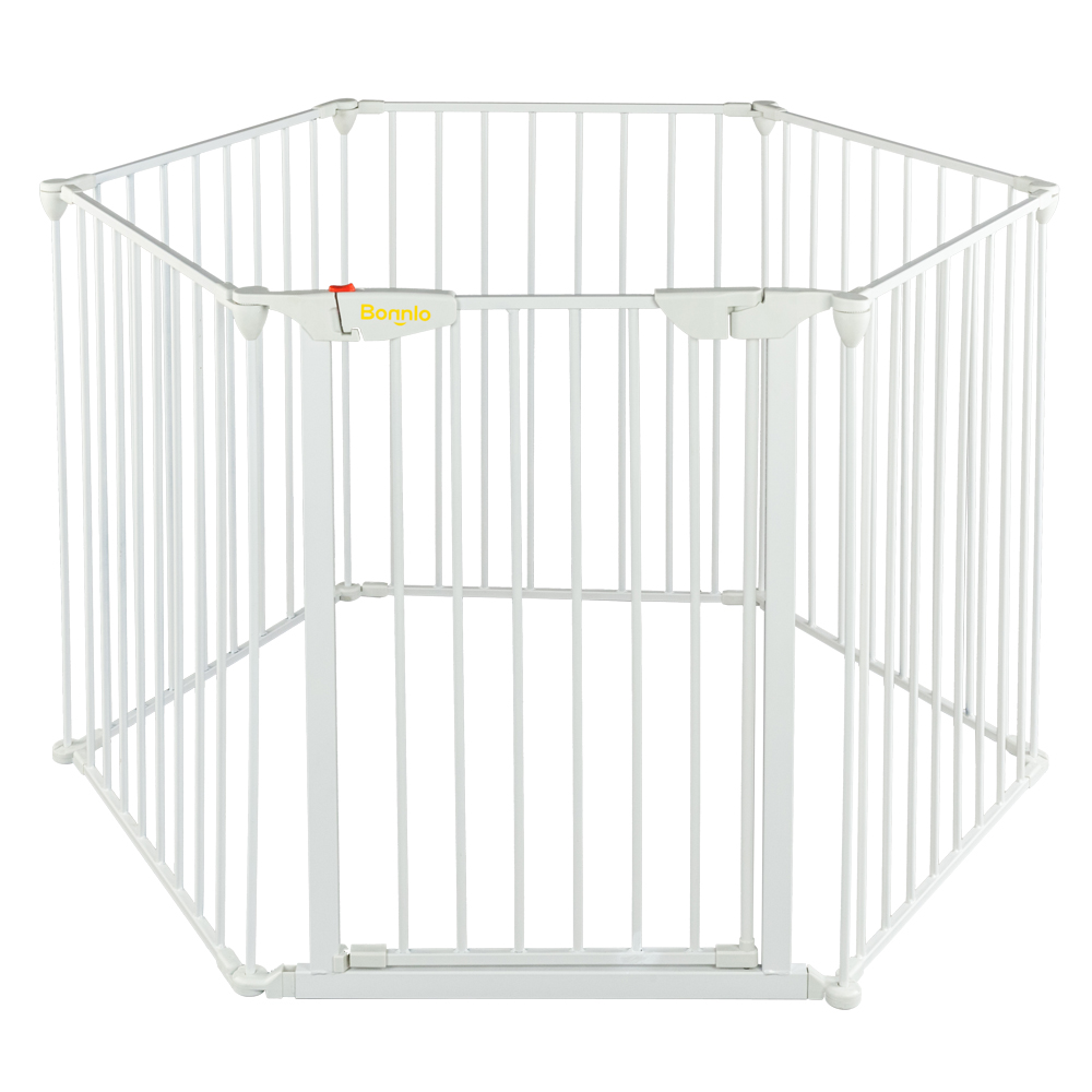 Zimtown Portable Baby Safety Gate Door Pet Dog Cat Fence Play Pen with swing door by Zimtown