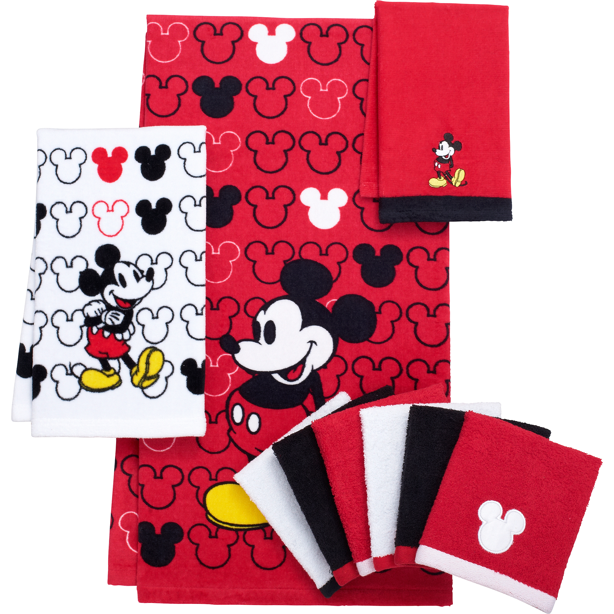 Mickey Mouse Decorative Bath Collection - 6 pack Washcloth