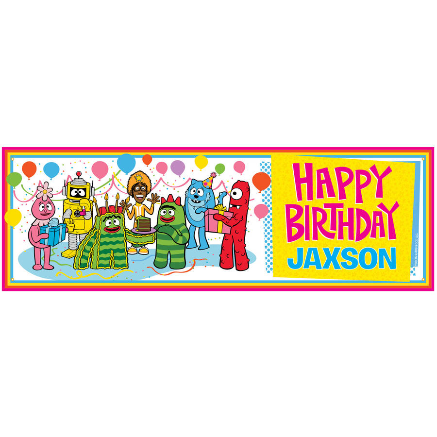 Personalized Yo Gabba Gabba Birthday Banner