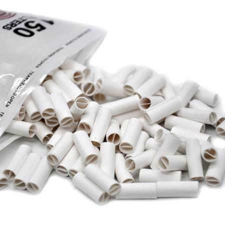150Pcs Hornet Per Rolled Tips Natural Prerolled For Cigarette Rolling Paper 6MM ()