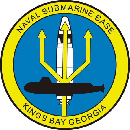 3.8 Inch NAVAL SUBMARINE BASE KINGS BAY, GEORGIA MILITARY DECAL