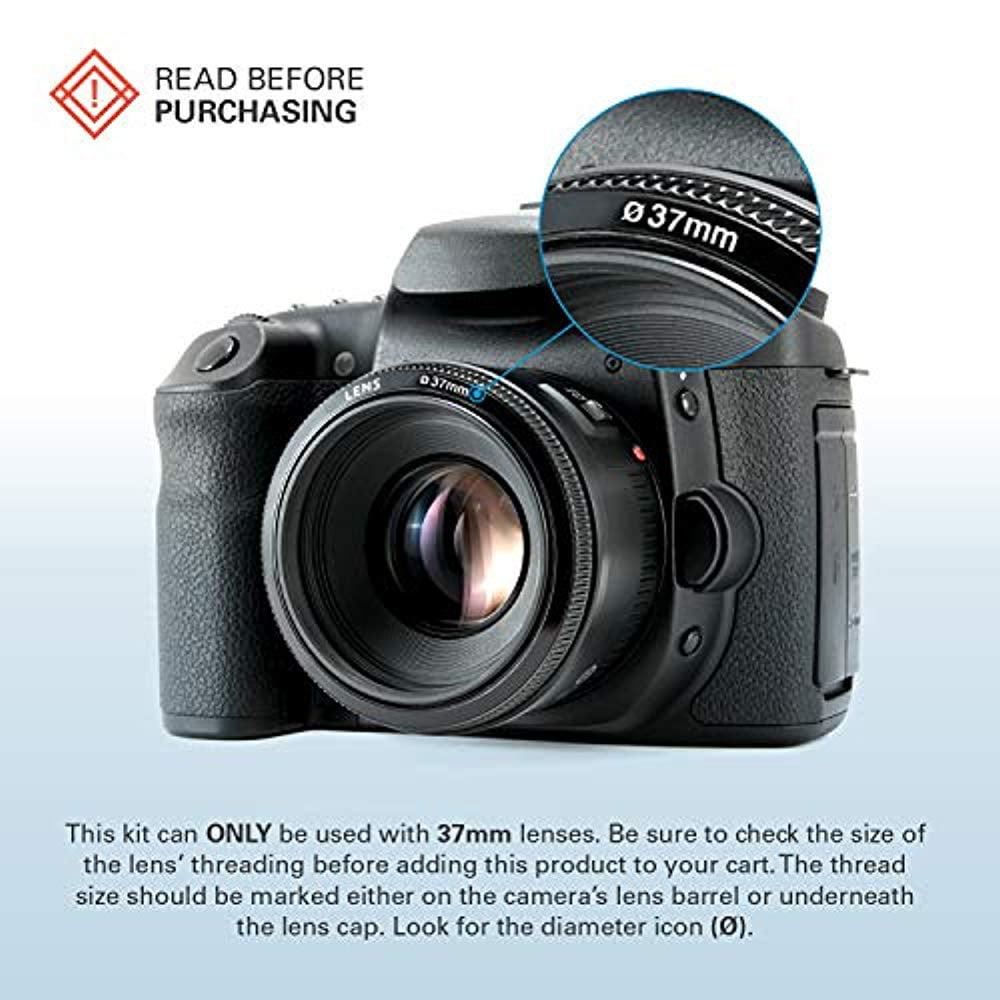 UV,CPL, Warming,/& FLD Compatible w// All Popular Camera Lens Models includes Nylon Carry Case Polaroid Optics 62mm 4-Piece Filter Kit Set