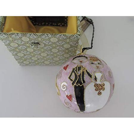 Kitty Keller Wedding Bride Groom Cloisonne Ornament