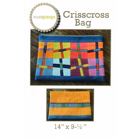 Criss Cross Pattern - Crisscross Zippered Bag Sewing Pattern by Sue Spargo